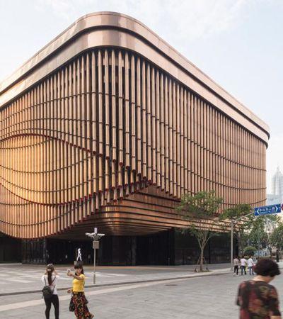 Prédio vivo e que 'dança': Teatro na China tem fachada-cortina que se move