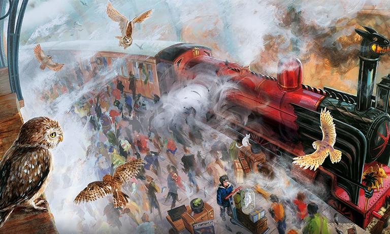 """Edição Ilustrada de """"Harry Potter e a Pedra Filosofal"""" está dando sopa por ali"""