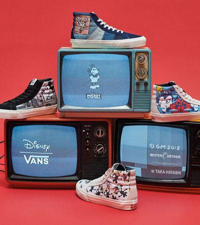 Para comemorar os 90 anos, Mickey Mouse estampa coleção especial da Vans