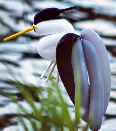 Artista transforma bexigas em pássaros e o resultado é uma lindeza só