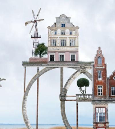Arquitetura impossível é tema de série de colagens surrealistas de artista alemão