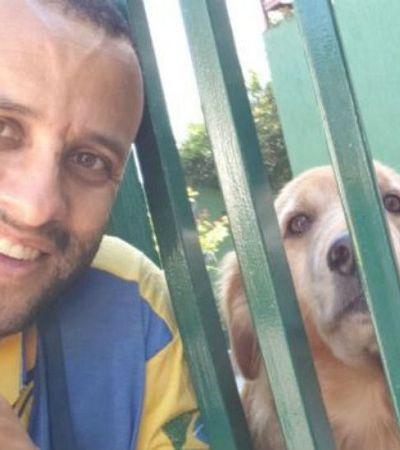 Carteiro amigão dos cachorros faz sucesso com selfies e sonha em criar abrigo para cães