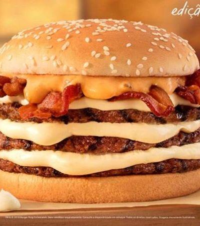 Burger King cria lanche com até 4 hambúrgueres e muito catupiry