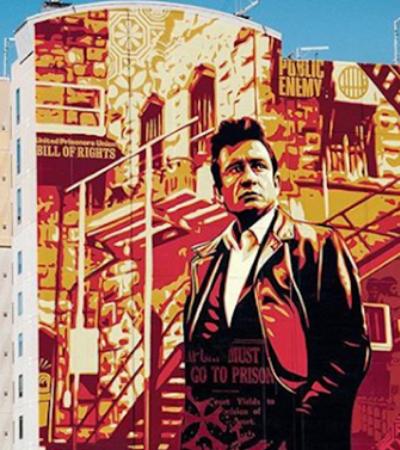 Johnny Cash ganha mural gigante nos EUA lembrando 50 anos de show em prisão