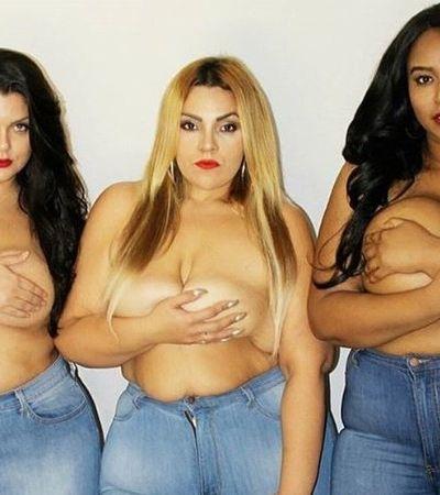 Marca plus size aposta em topless para celebrar a beleza da diversidade