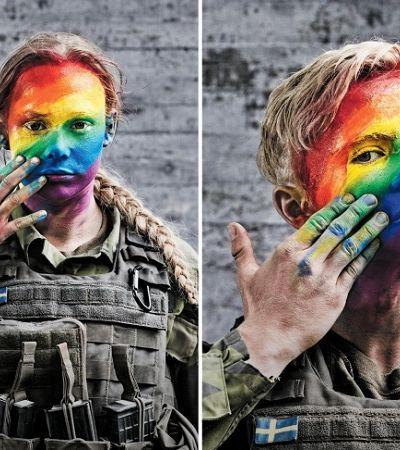 A maravilhosa campanha LGBT das forças armadas da Suécia