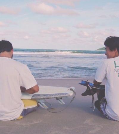 Uma loja online de produtos de surf sustentáveis para exercitar a coerência