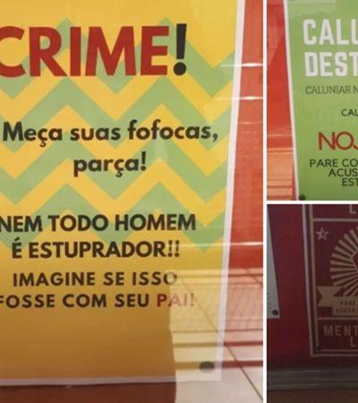 Alunas denunciam cartazes que desqualificam casos de estupro na Faculdade de Direito da USP
