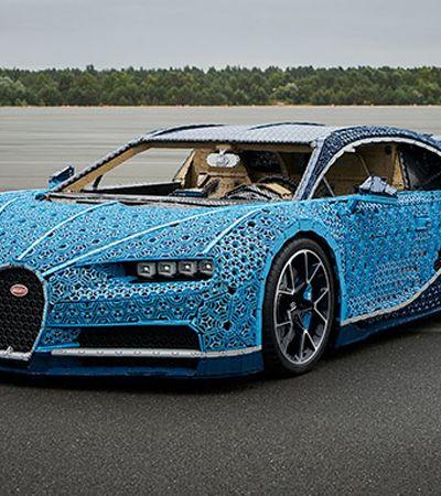 Bugatti cria carro esportivo que funciona com 1 milhão de peças Lego