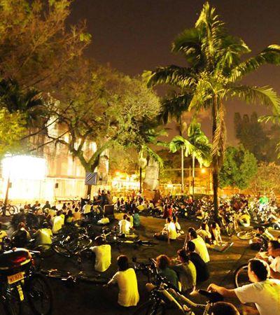 Cine-Cicletada une bicicleta, mobilidade urbana e cinema independente