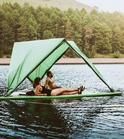 Partiu? Barraca de camping navegável comporta até 5 pessoas e aguenta 400 kg