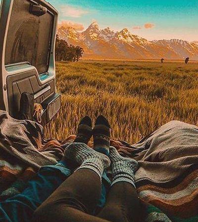Sonhar em sair viajando sem destino em uma van? Então se inspire nesse Instagram
