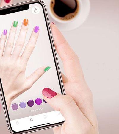 App de realidade aumentada permite 'testar' cores de esmalte nas próprias unhas