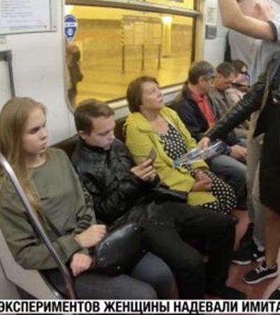 Esta heroína decidiu punir o manspreading no metrô jogando água nos homens