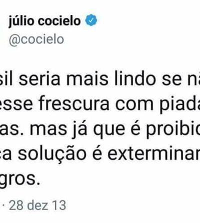 Comentário racista pode custar R$ 7,5 milhões ao youtuber Júlio Cocielo