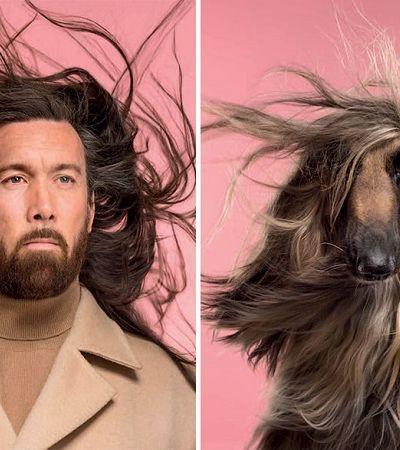 Fotógrafo clica cães ao lado de donos para provar que a convivência os torna iguais