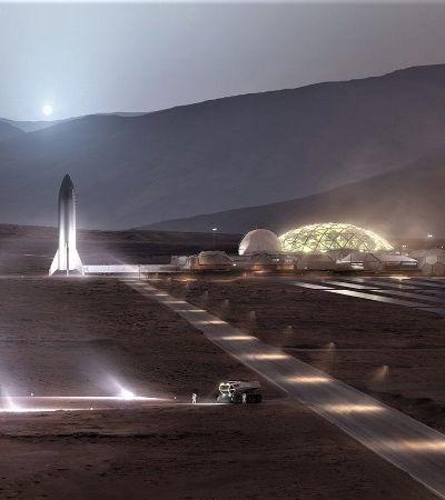 Temos imagens da estação espacial de Elon Musk em Marte. E ela fica pronta em 10 anos