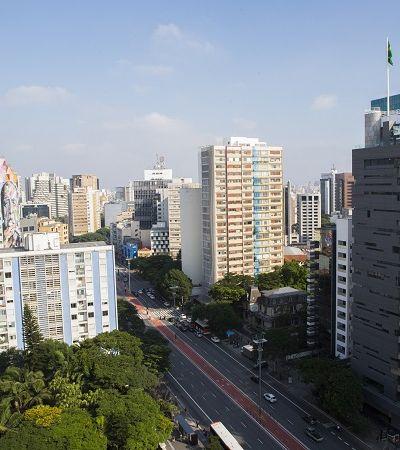 Horta é cultivada em plena Paulista a 60 metros de altura