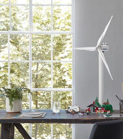 Nova fase: LEGO cria turbina eólica feita de peças sustentáveis