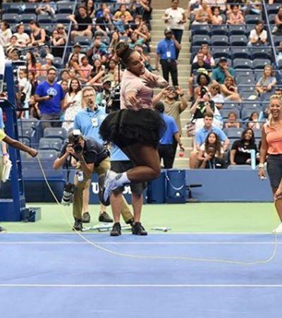 Serena Williams está arrasando com seu tutu no Aberto dos EUA