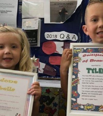 Menino com autismo é premiado após salvar a vida de sua mãe