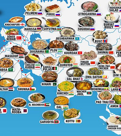 Estes mapas mostram as melhores refeições ao redor do mundo e você vai querer provar tudo