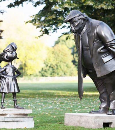 Matilda, de Roald Dahl, enfrenta Trump em estátua que homenageia os 30 anos da personagem