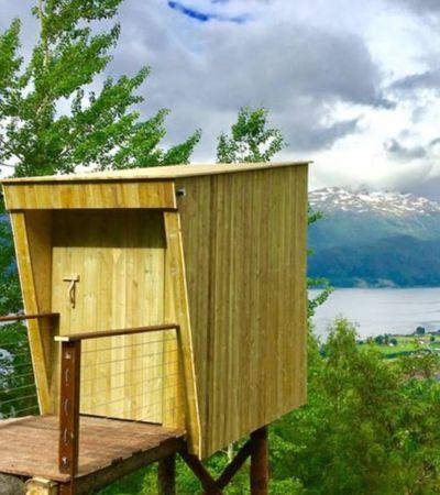 Esta casa na árvore na Noruega parece saída de um sonho