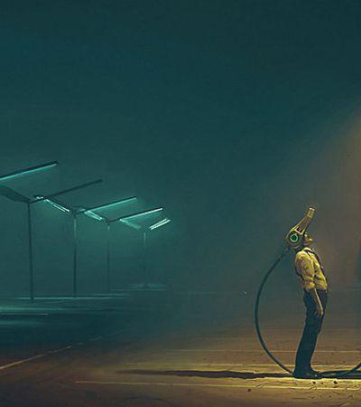 Ilustrador cria universo distópico e prevê como seria um 'apocalipse robô'
