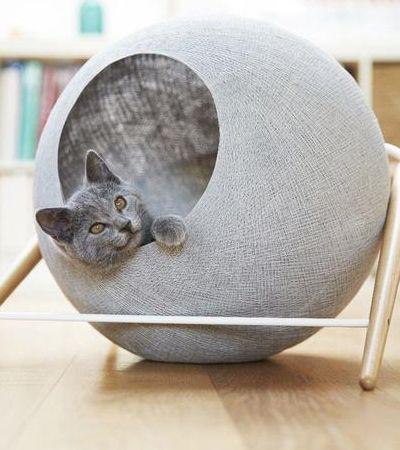 Esta casinha de gato minimalista vai cair como uma luva na sua decoração