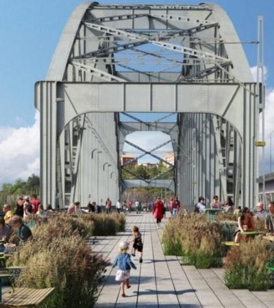 Arquitetos querem transformar ponte antiga em parque e prédio horizontal