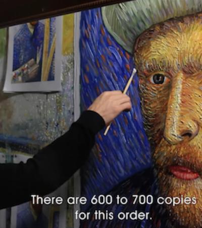 Este artista pintou meticulosamente 100 mil réplicas perfeitas de Van Gogh