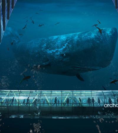 Com arte gráfica artista transforma Cingapura em cidade subaquática