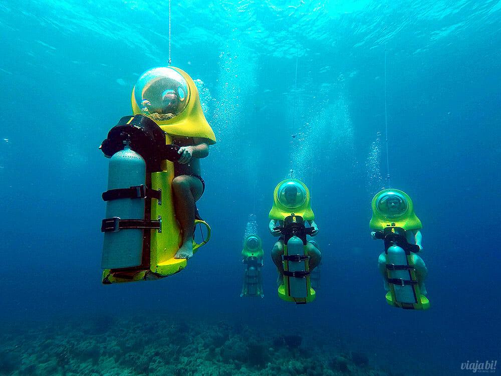 O Aquafari é uma das atrações mais incríveis de Curaçao - Foto: Aquafari/Viaja Bi!