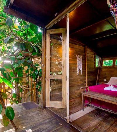 Neste hostel, em Ilhabela, você pode se hospedar numa casa na árvore