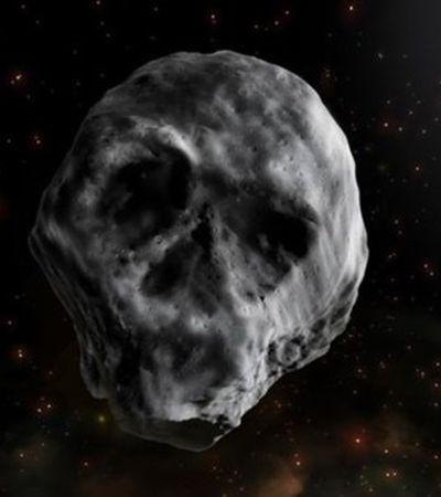 Credo, que delícia! Asteróide em forma de caveira se aproxima da Terra e desperta sentimentos contraditórios