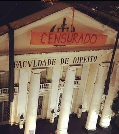 Após censura, alunos penduram mais 3 faixas antifascistas e programam ato em frente ao TRE