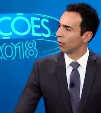 César Tralli é chamado de sem vergonha durante debate em SP