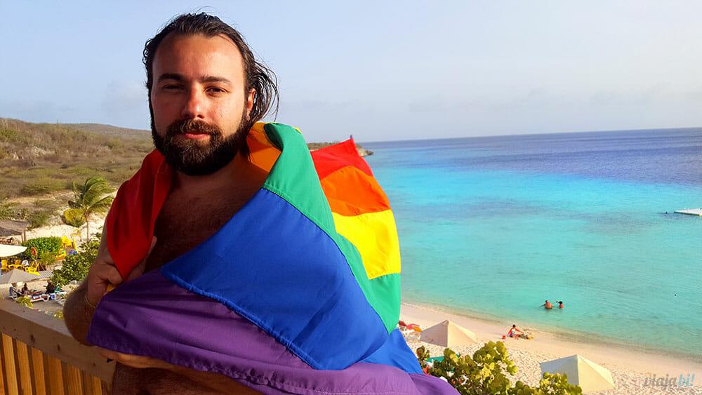 Curaçao LGBT: a praia Porto Mari fica em Curaçao, a ilha mais friendly do Caribe - Foto: Rafael Leick/Viaja Bi!