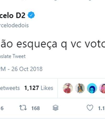 Ninguém representa melhor as dores e delícias das eleições 2018 que Marcelo D2