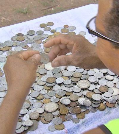 Este pequeno agricultor de Cuiabá doou 780 moedas antigas ao Museu Nacional
