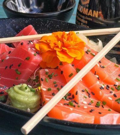 Este sashimi vegano tem aparência e sabor de peixe, mas não leva nada de origem animal