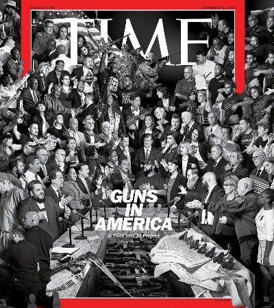 Revista 'Time' faz capa histórica com 245 vozes para debater as armas nos EUA