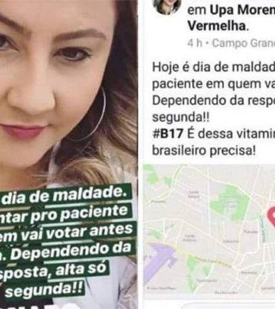 CRM vai investigar médica que ameaçou dar alta apenas aos eleitores de Bolsonaro