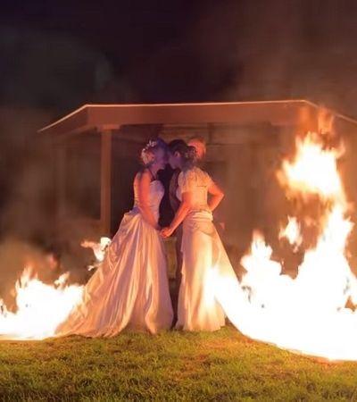 Noivas em chamas: este ensaio de casamento LGBT é puro poder