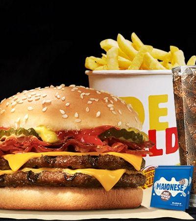 Black Friday do Burger King vai ter 3 lanches por R$ 15. E eles não precisam ser iguais