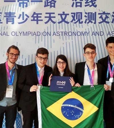 É do Brasil! Brasileiros ganham 4 medalhas em Olimpíada Internacional de Astronomia