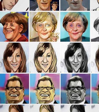 A inteligência artificial agora também é capaz de fazer caricaturas f*das