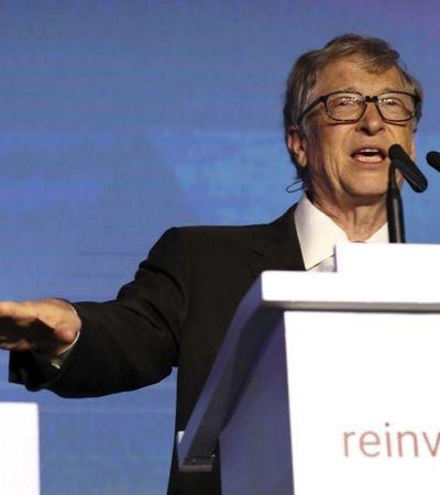 Bill Gates faz apresentação com pote de cocô. Entenda por que ele fez isso