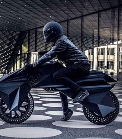 Esta é a Nera, a primeira motocicleta criada inteiramente com impressão 3D